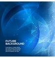 Abstract blue background polygonal space