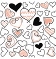 abstract seamless love pattern valentines day card vector image