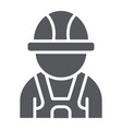 auto mechanic glyph icon car and person vector image