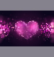 background with pink 3d realistic hearts vector image vector image