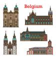 belgium landmarks cathedral church in liege eupen vector image vector image