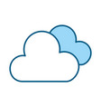 blue clouds cartoon vector image