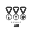 Bowling Trophy vector image vector image