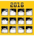 Calendar for 2016 vector image vector image
