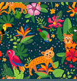 cheetah and leopards pattern exotic design vector image vector image