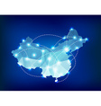 China country map polygonal with spot lights vector image vector image