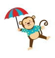 circus monkey cartoon icon vector image vector image