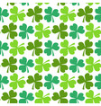 clover seamless pattern st patricks day endless vector image vector image