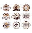 coffee logo collection vector image