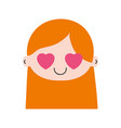 colorful head girl in love with long hair vector image vector image