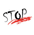 concept of a word stop vector image vector image