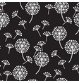 decorative dandelion flowers seamless pattern vector image vector image