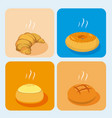 delicious bakery products vector image