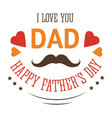 fathers day isolated icon family member love and vector image
