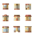 Flat color icons for building facade vector image vector image