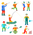 Flat icon people of different professions vector image