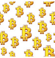 golds symbol bitcoin seamless pattern vector image vector image