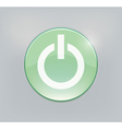 Green glowing power on or off button vector image vector image