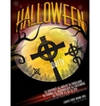 Halloween Party Flyer EPS 10 vector image