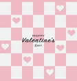 happy valentines day greeting card with paper cut vector image vector image