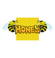 honey sign with two bees vector image