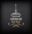 Hot dog badges and menu design elements vector image