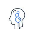 human head profile cognitive psychology vector image vector image