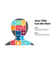 human head puzzle infographic generating new vector image