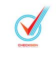 icon check box - logo template vector image