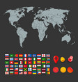 infographic elements for design world map vector image