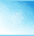 light blue polygonal background vector image vector image