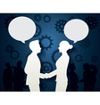 Man and Woman with dialog speech vector image
