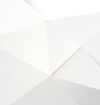 Modern white polygon background vector image vector image