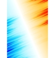 Orange and blue abstract grunge stripes background vector image vector image