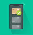 parcel tracking or delivered via smartphone vector image vector image