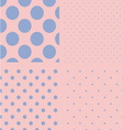 Polka dot set Seamless pattern Rose quartz and vector image vector image