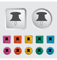 push pin icon vector image vector image