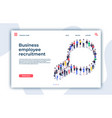 recruitment landing page we are hiring magnifier vector image