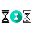 sand clock and hourglass icons in flat vector image vector image