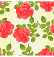 seamless texture rose pink and leaves vintage vector image vector image