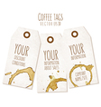 Set of tags with coffee stains vector image vector image