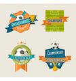 Soccer vintage labels set vector image vector image