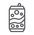 soda can line icon drink and beverage aluminum vector image vector image
