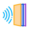 Sound heading for door icon outline