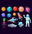 space items alien ufo universe planet and vector image