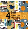 Sport patterns set vector image vector image