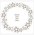 Stars border frame vector image vector image