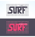 surf colorful text design background vector image vector image