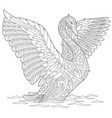swan adult coloring page vector image vector image