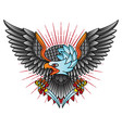traditional eagle flash tattoo vector image vector image